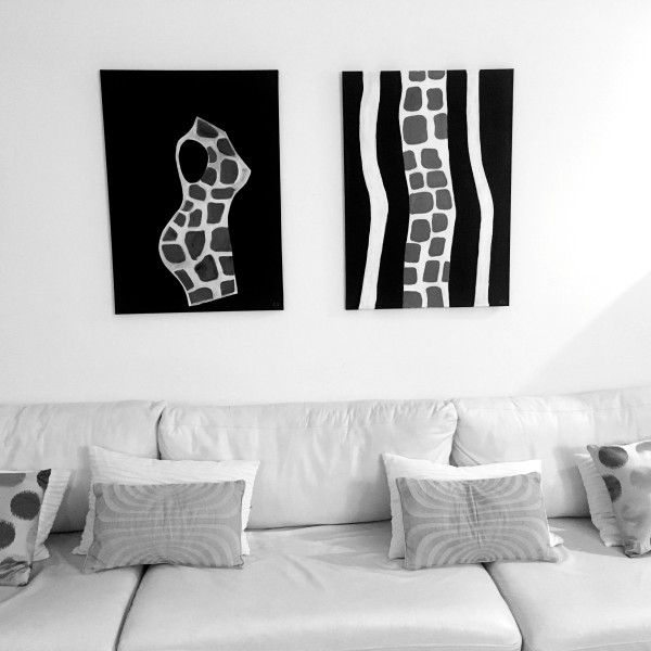 Flexing & Time, 2x 89x64cm, Bought together 1200€