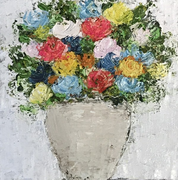 Flower love II, 20x20, oil on canvas, 450€
