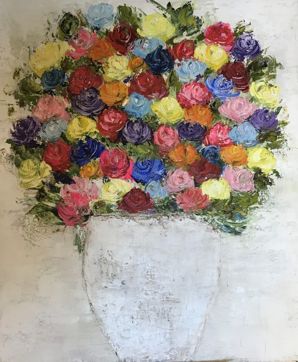 Flower love, 20x20, oil on canvas, 450€